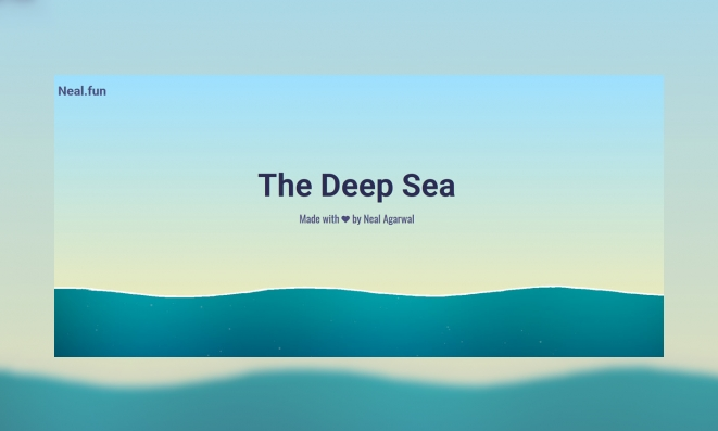 Plaatje The deep sea